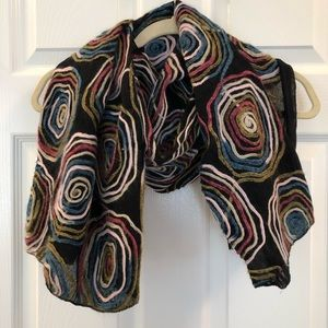 Accessories - Silk Cotton Scarf Art to Wear Made in Italy 326